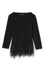 Knit Top With Feather Detail by CAROLINA HERRERA for Preorder on Moda Operandi