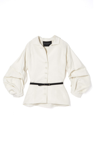 Silk Faille Full Sleeve Blouse by CAROLINA HERRERA for Preorder on Moda Operandi