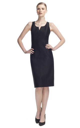 Medium carolina herrera black cotton and silk mikado dress