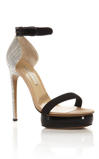 Medium nicholas kirkwood brown sketch print elaphe platform sandal