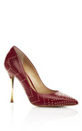 Gold Stud Chrome Heel Pump by NICHOLAS KIRKWOOD for Preorder on Moda Operandi