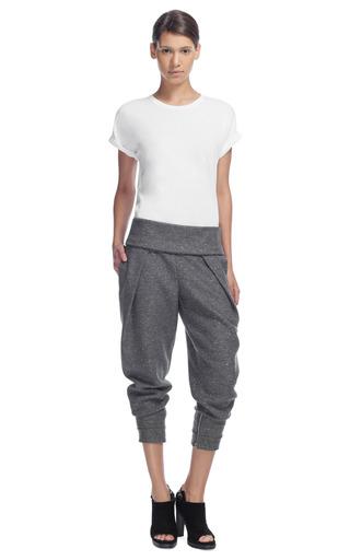 Medium alexander wang dark grey low rise pleated jogging trousers