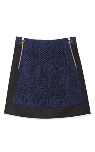 Medium opening ceremony black chevy zipper mini skirt in navy