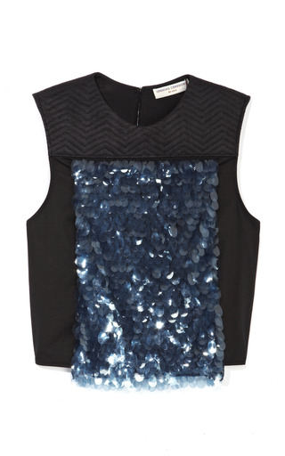 Medium opening ceremony blue pacific paillette top