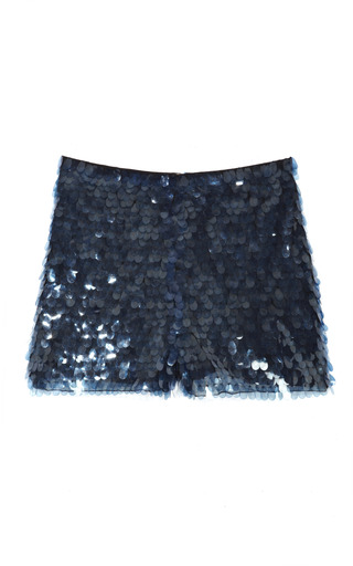 Medium opening ceremony blue pacific paillette shorts in ash blue