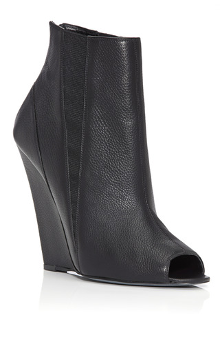 Medium narciso rodriguez black open toe bootie