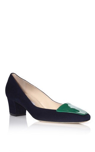 Marine & Ivy Riley Pumps by OSCAR DE LA RENTA for Preorder on Moda Operandi