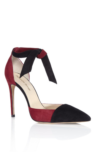 Vino & Black Lady Like Knotted Pump by ALEXANDRE BIRMAN for Preorder on Moda Operandi