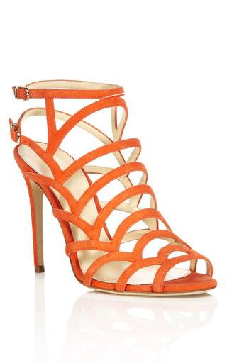 Medium alexandre birman orange orange strappy sandal