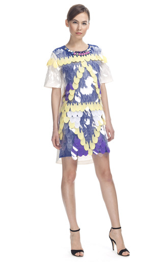 Sequined Paillette Cocktail Dress by LUBLU KIRA PLASTININA for Preorder on Moda Operandi