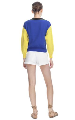 Embroidered Multicolor Sweater by LUBLU KIRA PLASTININA for Preorder on Moda Operandi