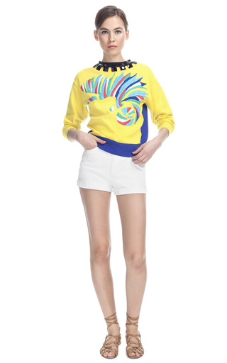 Medium lublu kira plastinina multi embroidered multicolor sweater