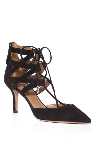 Medium aquazzura black black belgravia pumps