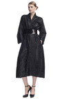 Paper Velvet Belted Coat by DONNA KARAN for Preorder on Moda Operandi