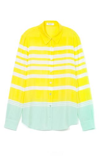 Medium equipment green venice stripes crepe de chine brett clean blouse