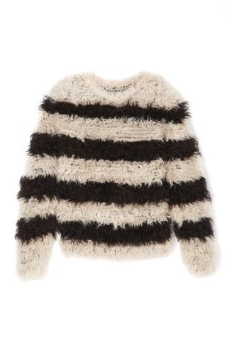 Striped Fuzzy Sweater by THAKOON for Preorder on Moda Operandi