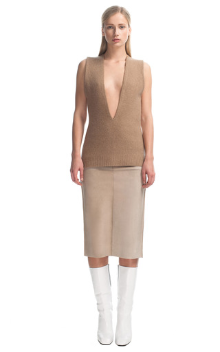 Pf13 Look 8 Sleeveless Sweater by CALVIN KLEIN COLLECTION for Preorder on Moda Operandi