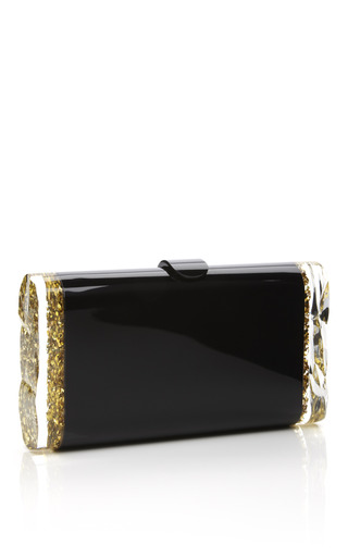 Back Lit Gold Confetti Lara Clutch by EDIE PARKER for Preorder on Moda Operandi