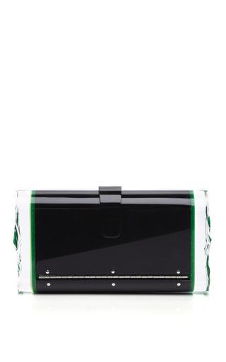 Back Lit Green Confetti Lara Clutch by EDIE PARKER for Preorder on Moda Operandi