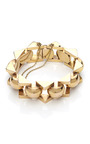 18 K Rose Gold Deco Bracelet by TARA COMPTON for Preorder on Moda Operandi