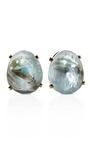14 K Prong Set Aquamarine Earrings by TARA COMPTON for Preorder on Moda Operandi