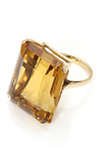 14 K Gold And Citrine Cocktail Ring by TARA COMPTON for Preorder on Moda Operandi