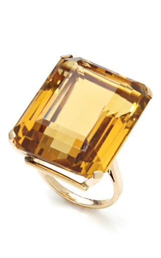 Medium tara compton yellow 14k gold and citrine cocktail ring