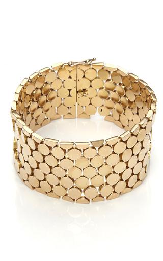 Medium tara compton gold 18k honeycomb bracelet