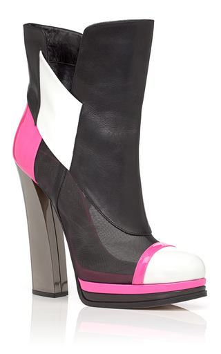 Hot Pink Capped Toe Boot by PRABAL GURUNG for Preorder on Moda Operandi