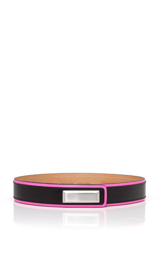 Hot Pink Silver Plated Belt by PRABAL GURUNG for Preorder on Moda Operandi