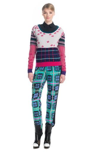 Plaid Tuxedo Track Pants by PRABAL GURUNG for Preorder on Moda Operandi