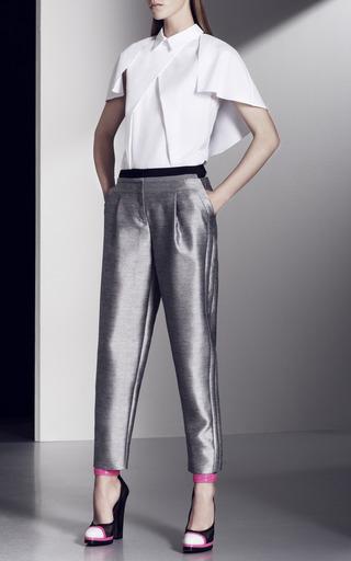 Tuxedo Stripe Trousers by PRABAL GURUNG for Preorder on Moda Operandi