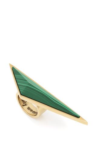 Medium kelly wearstler gold malachite point ring