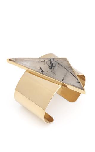 Medium kelly wearstler gold quartz point cuff
