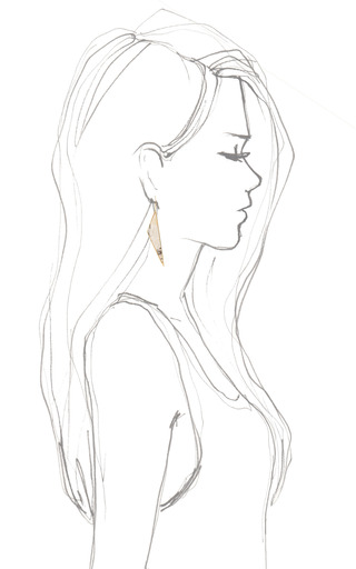 Asymmetrical Point Earring by KELLY WEARSTLER for Preorder on Moda Operandi