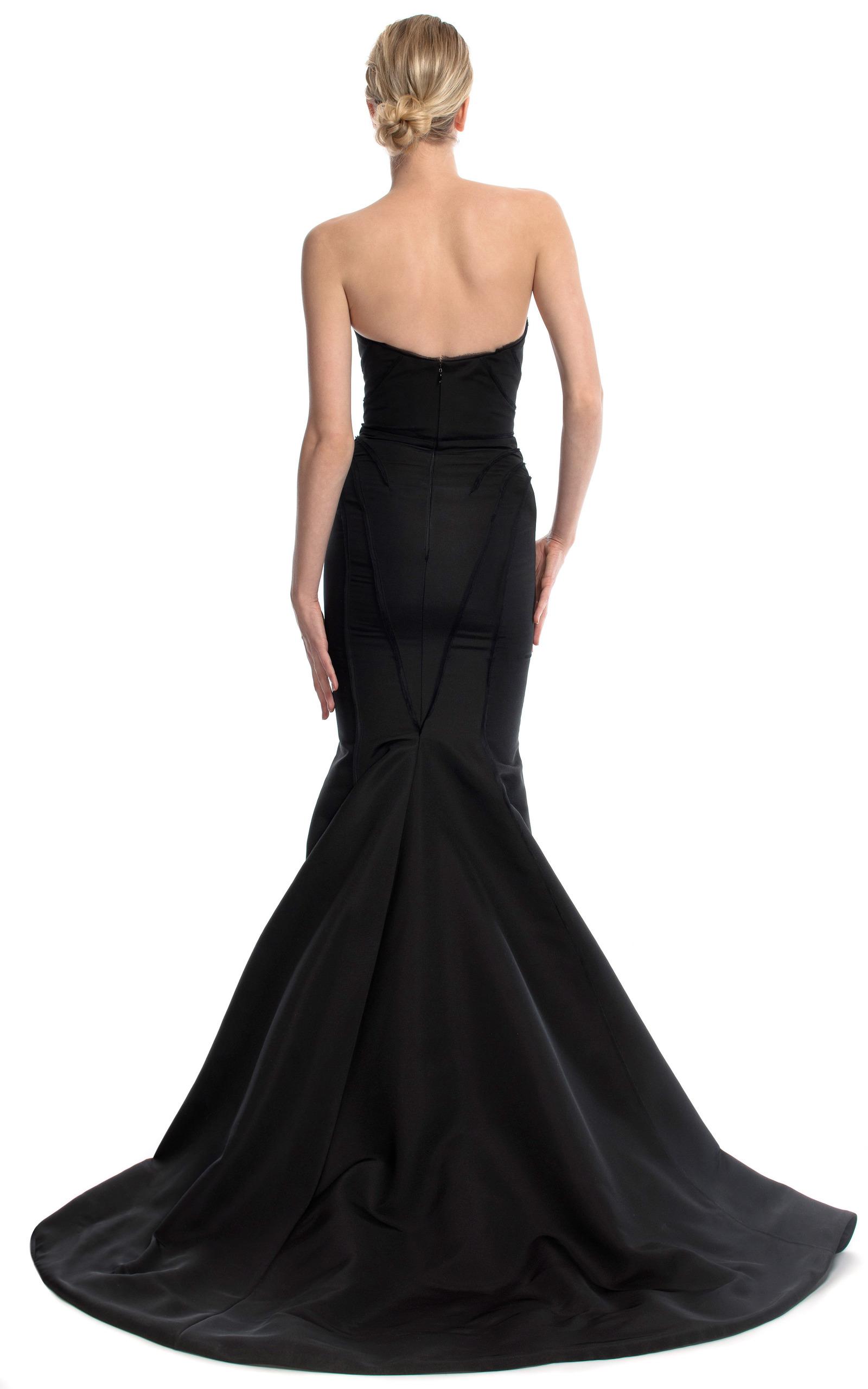 Black Strapless Evening Gown by Zac Posen | Moda Operandi