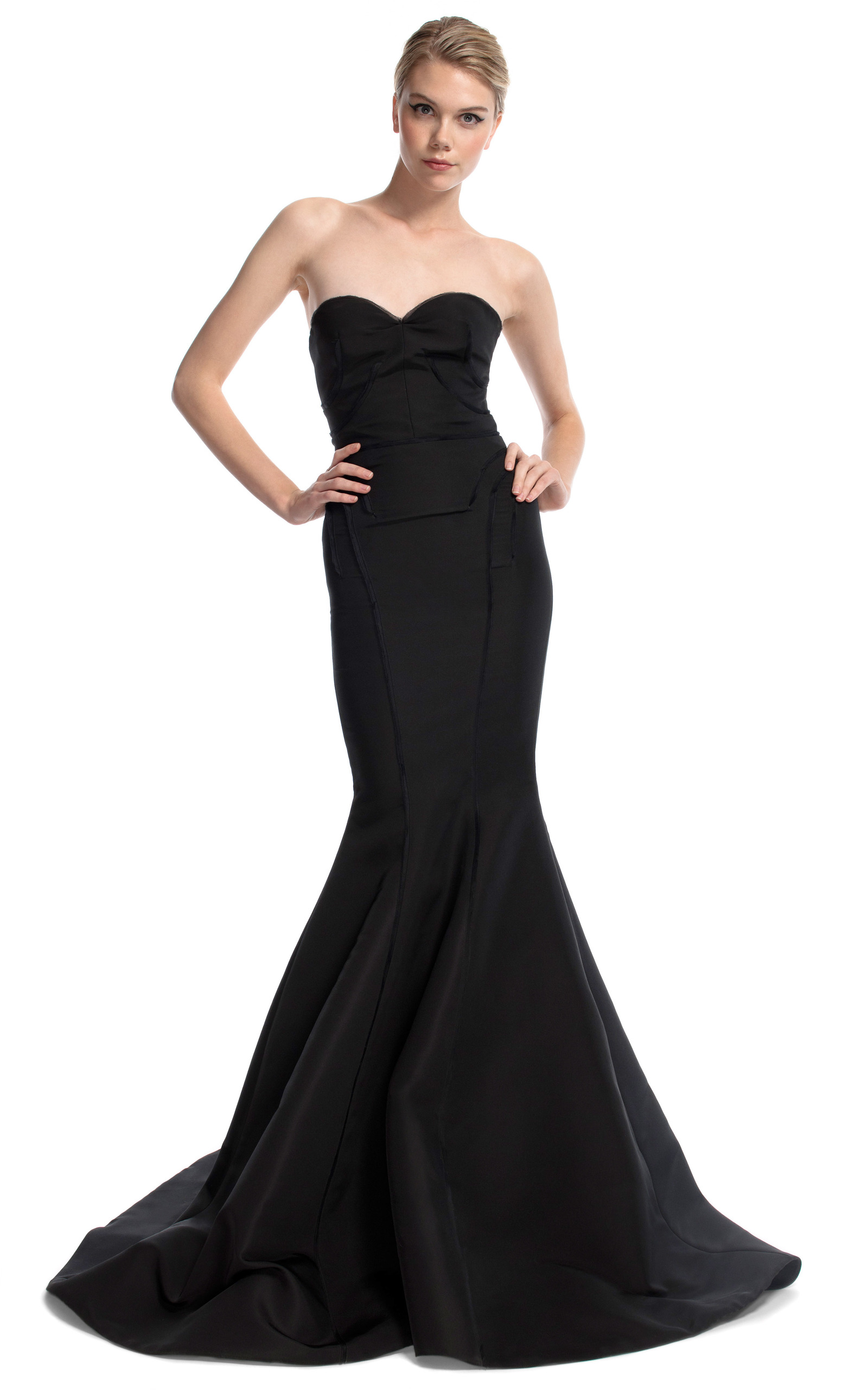 47dcb2590c7 Black Strapless Evening Gown by Zac Posen