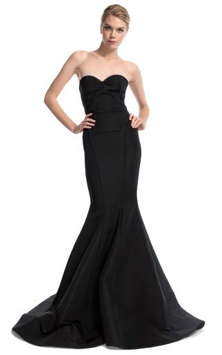 Black Strapless Evening Gown By Zac Posen Moda Operandi