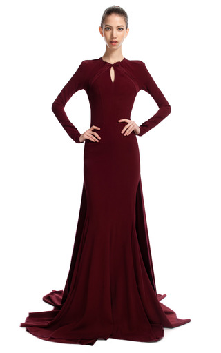 Open Back Evening Gown by ZAC POSEN for Preorder on Moda Operandi