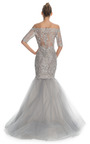 Double Layer Re Embroidered Lace Fishtail Gown by MARCHESA for Preorder on Moda Operandi