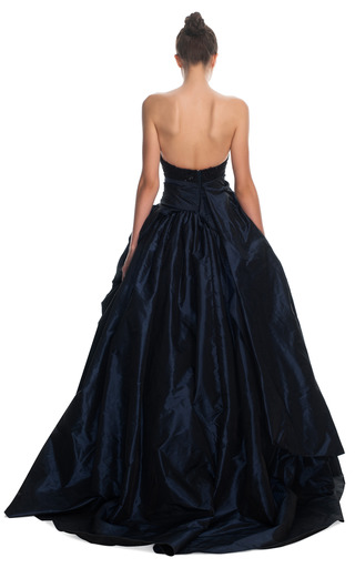 Sculpted Taffeta Ball Gown by MARCHESA for Preorder on Moda Operandi