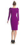 Silk Crepe Sheath Dress With Embellished Shoulders by MARCHESA for Preorder on Moda Operandi