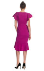 Silk Crepe Cocktail Dress With Biased Ruffle Skirt by MARCHESA for Preorder on Moda Operandi