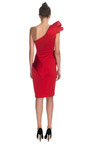 Sculpted One Shoulder Dress With Peplum by MARCHESA for Preorder on Moda Operandi