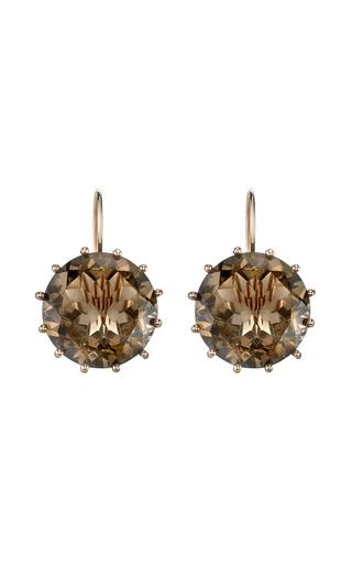 Medium andrea fohrman gold smokey topaz georgia earring
