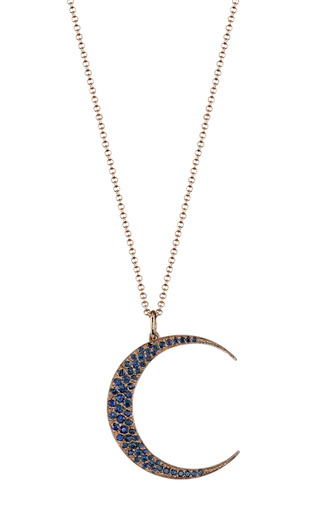 Medium andrea fohrman multi blue sapphire luna necklace