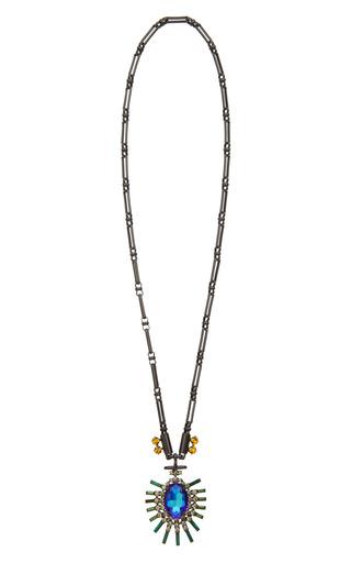 Medium paula bianco multi small palm pendant