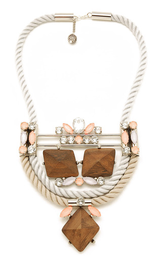 Pink Saxifraga Necklace by MOUTONCOLLET for Preorder on Moda Operandi