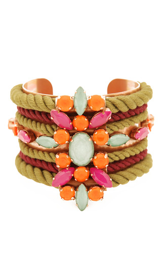 Medium moutoncollet metallic olive pumilia bracelet