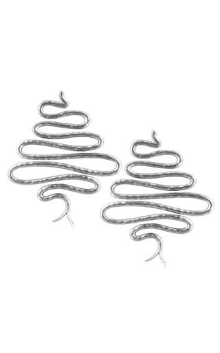 Medium tsura silver krait earrings